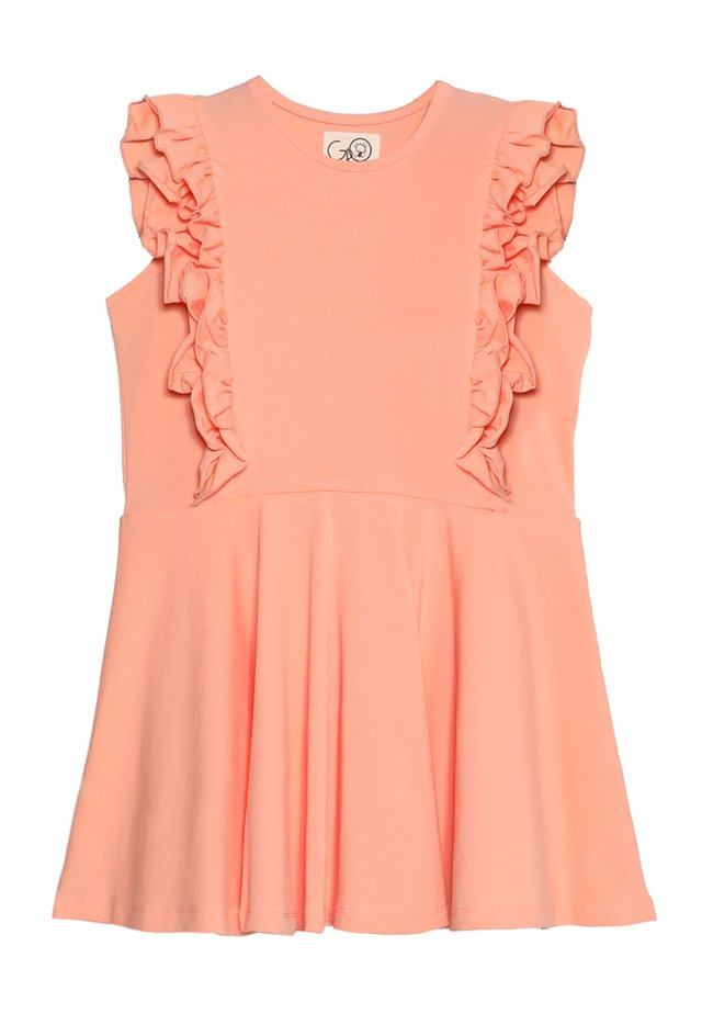 ADELYN FLOUNCED DRESS - Jerseykjoler - peachy