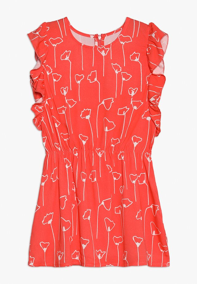 AUNT SIMPLE FLOUNCE DRESS - Day dress - matt red/white