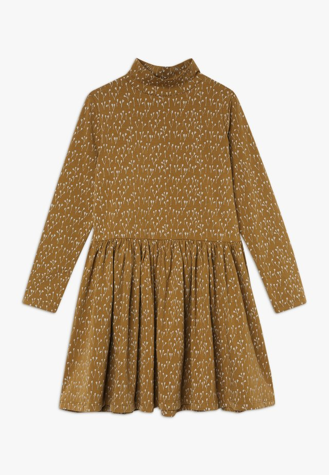 CECILIE DRESS - Jerseykjoler - ochre green