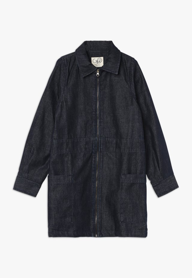 CLAUDIA WORKER DRESS - Denim dress - dark blue navy