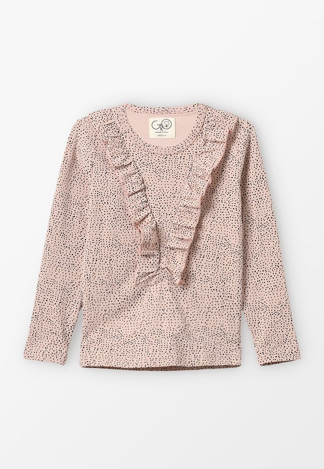 NORA TEE LONG SLEEVE FLOUNCED - Langarmshirt - light rose grey