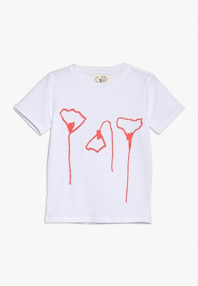 NORR  TEE - T-shirt med print - white