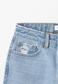 Grunt - WIDE LEG CROP  - Široké džíny - mid blue - 4