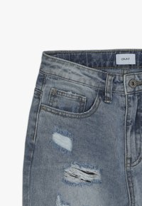 Grunt - MOM DAMAGED CROPED - Relaxed fit jeans - winter blue - 3