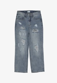 Grunt - MOM DAMAGED CROPED - Relaxed fit jeans - winter blue - 4