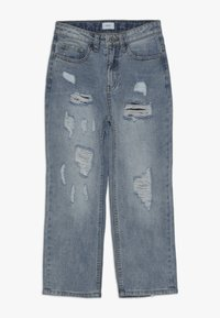 Grunt - MOM DAMAGED CROPED - Relaxed fit jeans - winter blue - 0