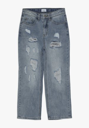 MOM DAMAGED CROPED - Relaxed fit jeans - winter blue