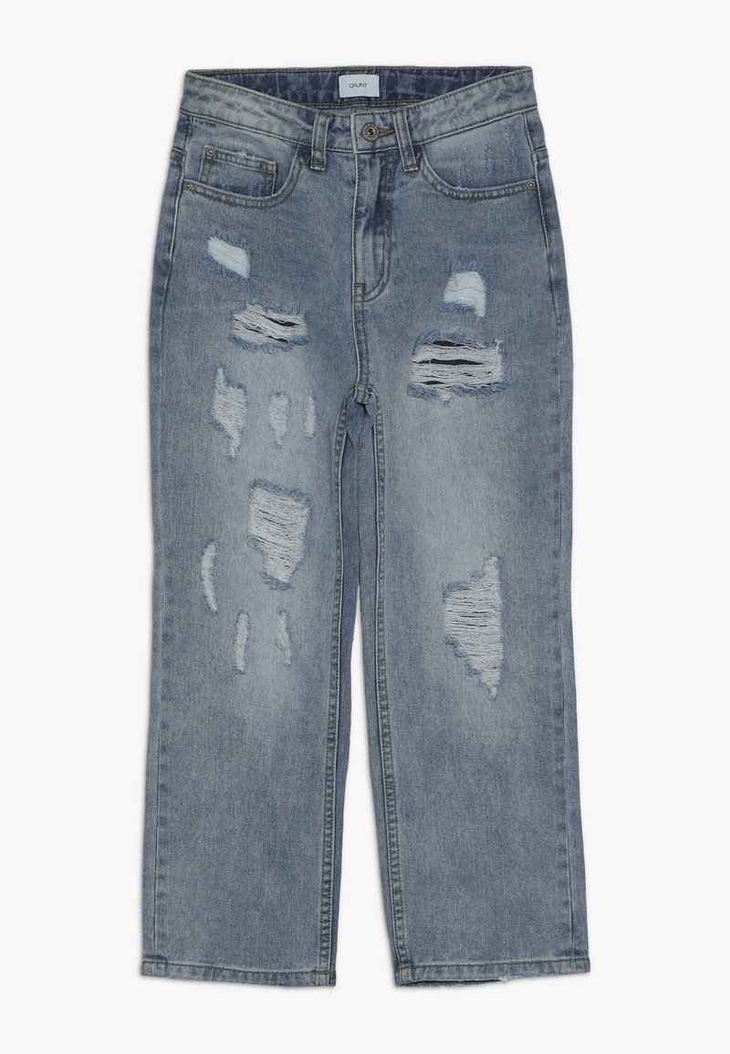 Grunt - MOM DAMAGED CROPED - Relaxed fit jeans - winter blue