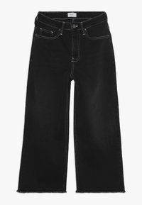 Grunt - ELLIE WIDE LEG CROPED - Flared Jeans - clam black - 0