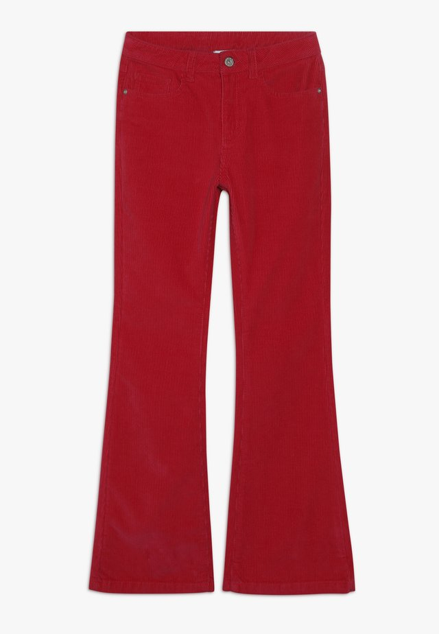 FLARE CORD - Trousers - neon pink