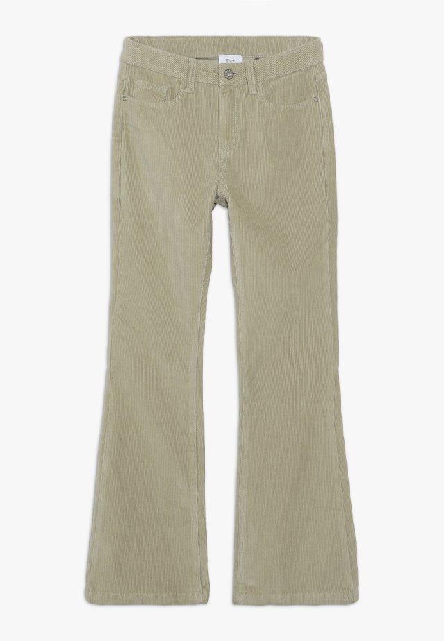 FLARE PANT - Spodnie materiałowe - dark stone