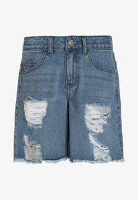 Grunt - Denim shorts - mid blue - 0