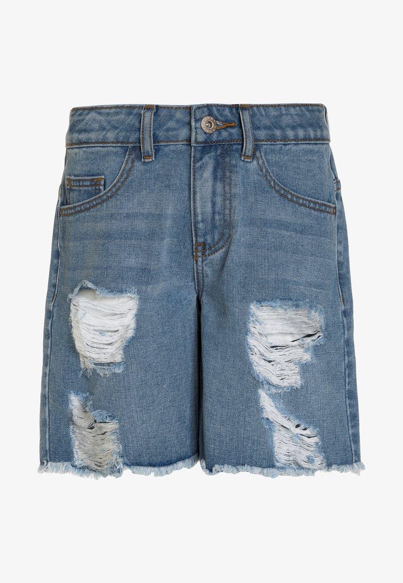 Grunt - Denim shorts - mid blue