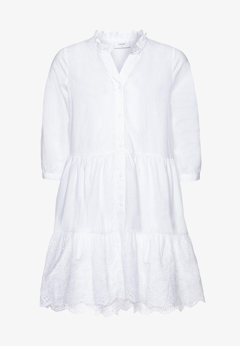 Grunt - ANNA DRESS - Shirt dress - white