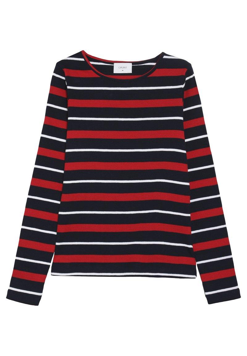 Grunt - SIF TEE - Långärmad tröja - night blue/red