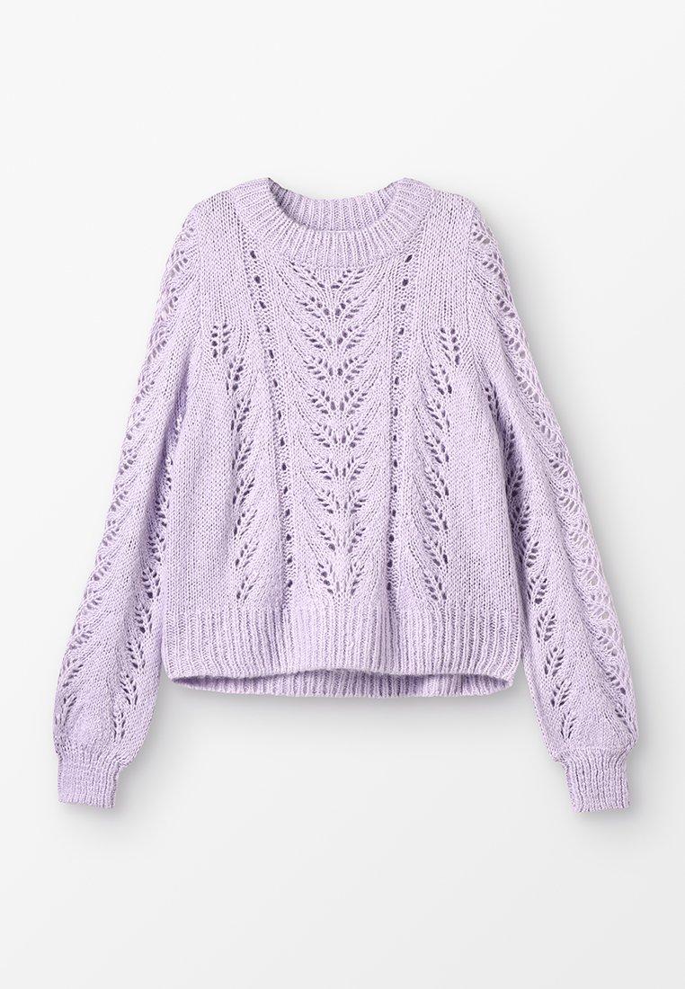 Grunt - LIVA - Strikpullover /Striktrøjer - light purple