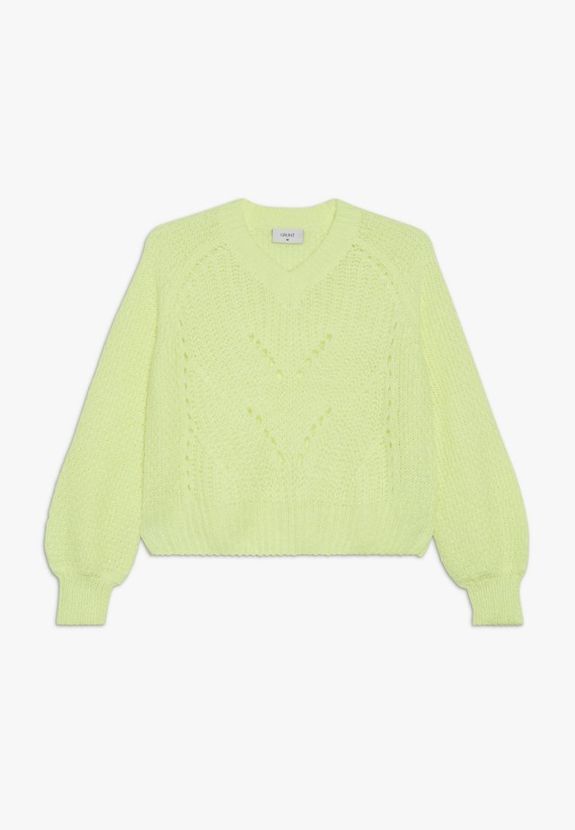 HEDVIG - Strickpullover - neon yellow