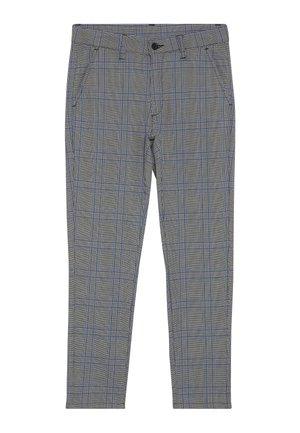DUDE CHECK - Oblekové kalhoty - blue