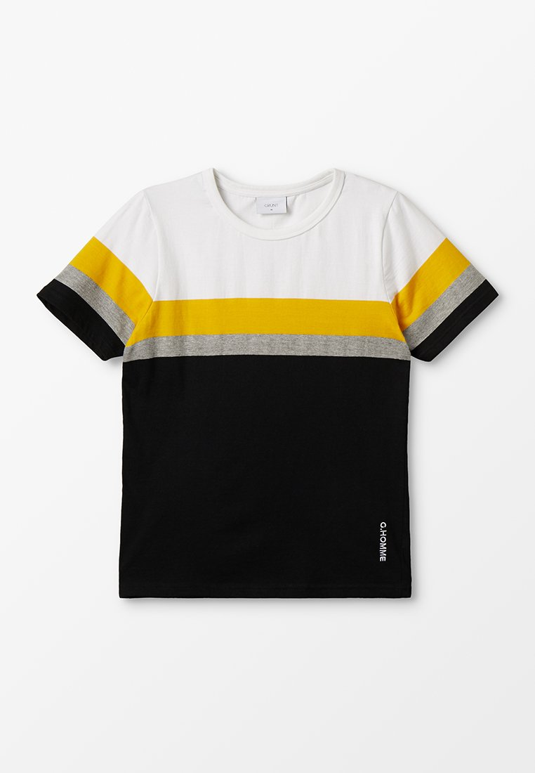 Grunt - CILAS TEE - T-shirt con stampa - black/sun yellow