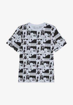 LUCIFER TEE - Printtipaita - white/black