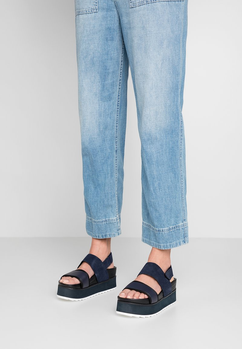 G-Star - CORE FLATFORM - Platform sandals - dark saru blue