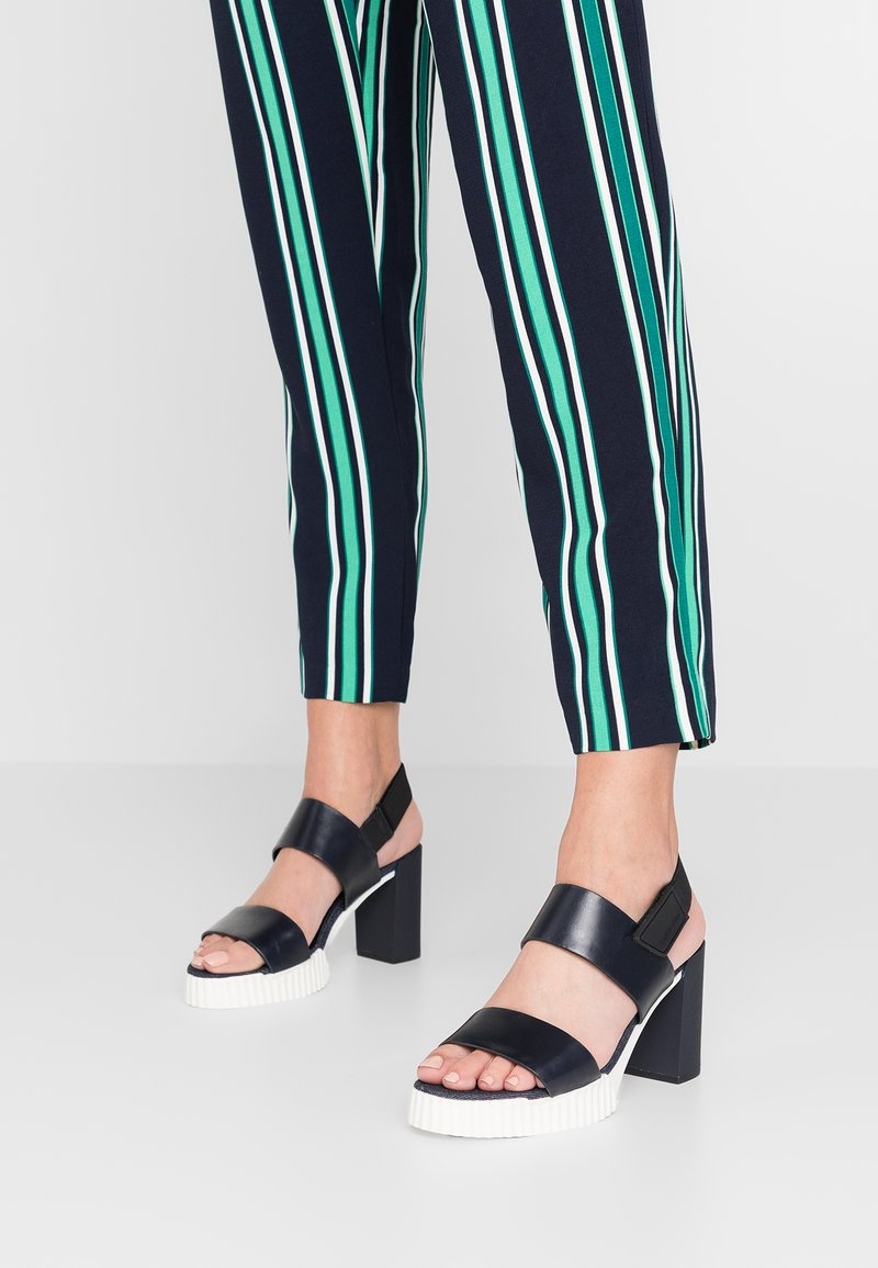 G-Star - RACKAM CORE DENIM SANDAL - High heeled sandals - dark saru blue