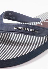 G-Star - DEND - Klipklappere/ klip klapper - dark saru blue/milk - 2