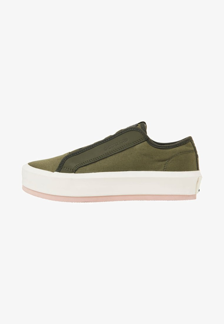 G-Star - STRETT LACE UP - Trainers - green