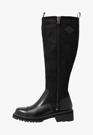 MINOR ZIP BOOT HIGH - Boots - black