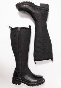 G-Star - MINOR ZIP BOOT HIGH - Vysoká obuv - black - 3