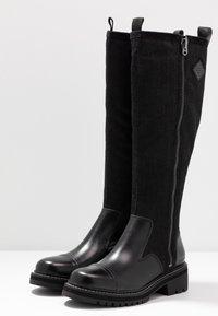 G-Star - MINOR ZIP BOOT HIGH - Vysoká obuv - black - 4