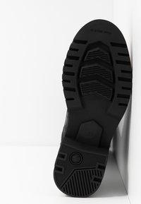 G-Star - MINOR ZIP BOOT HIGH - Vysoká obuv - black - 6