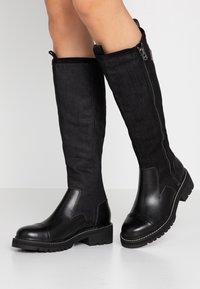 G-Star - MINOR ZIP BOOT HIGH - Vysoká obuv - black - 0