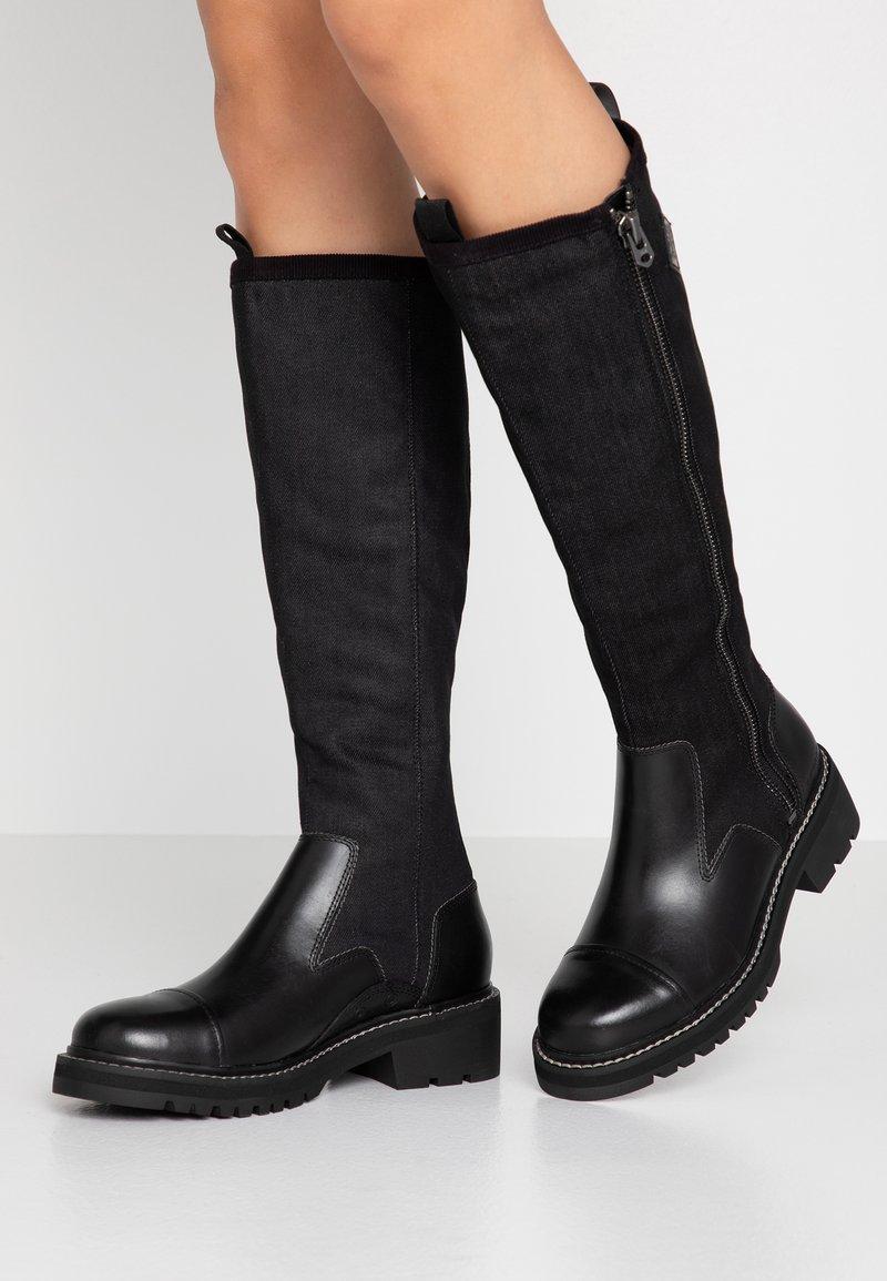 G-Star - MINOR ZIP BOOT HIGH - Vysoká obuv - black