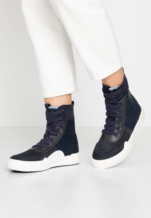 PARTA  - Baskets montantes - black/dark saru blue