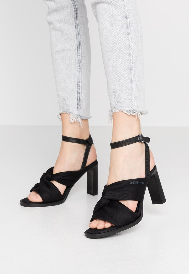 KNOT MARINA - High heeled sandals - black