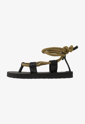 GHILLIE - Infradito - black/yellow