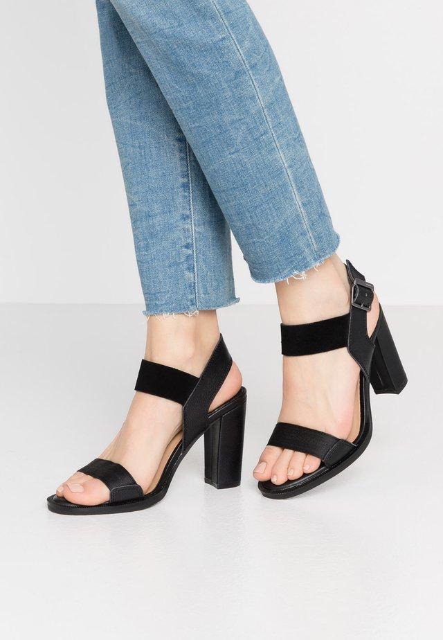 NAVIK - High heeled sandals - black