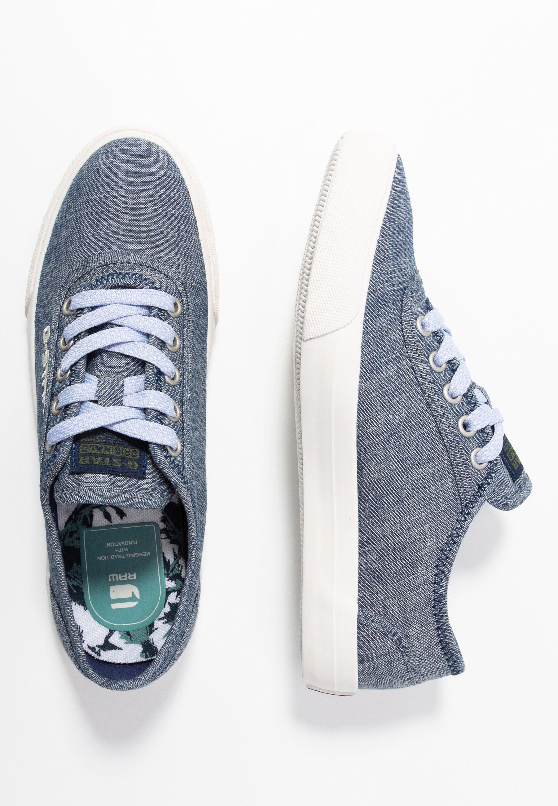 G-Star VELV DENIM - Sneakersy niskie - blue