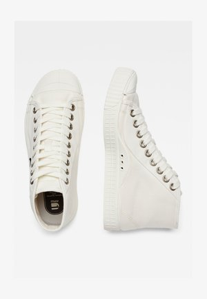 ROVULC BADGES MID - High-top trainers - milk