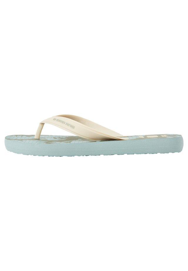 DEND AOP - Sandales de bain - dusty green