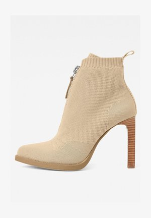 STRETT HEEL - High heeled ankle boots - bisque