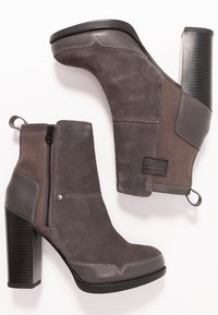 G-Star - LABOUR ZIP BOOT - High heeled ankle boots - rover - 3