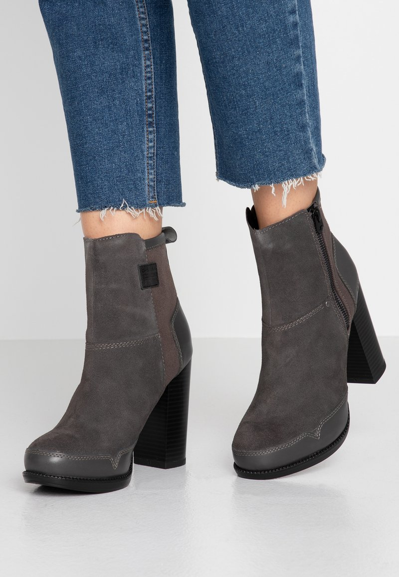 G-Star - LABOUR ZIP BOOT - High heeled ankle boots - rover
