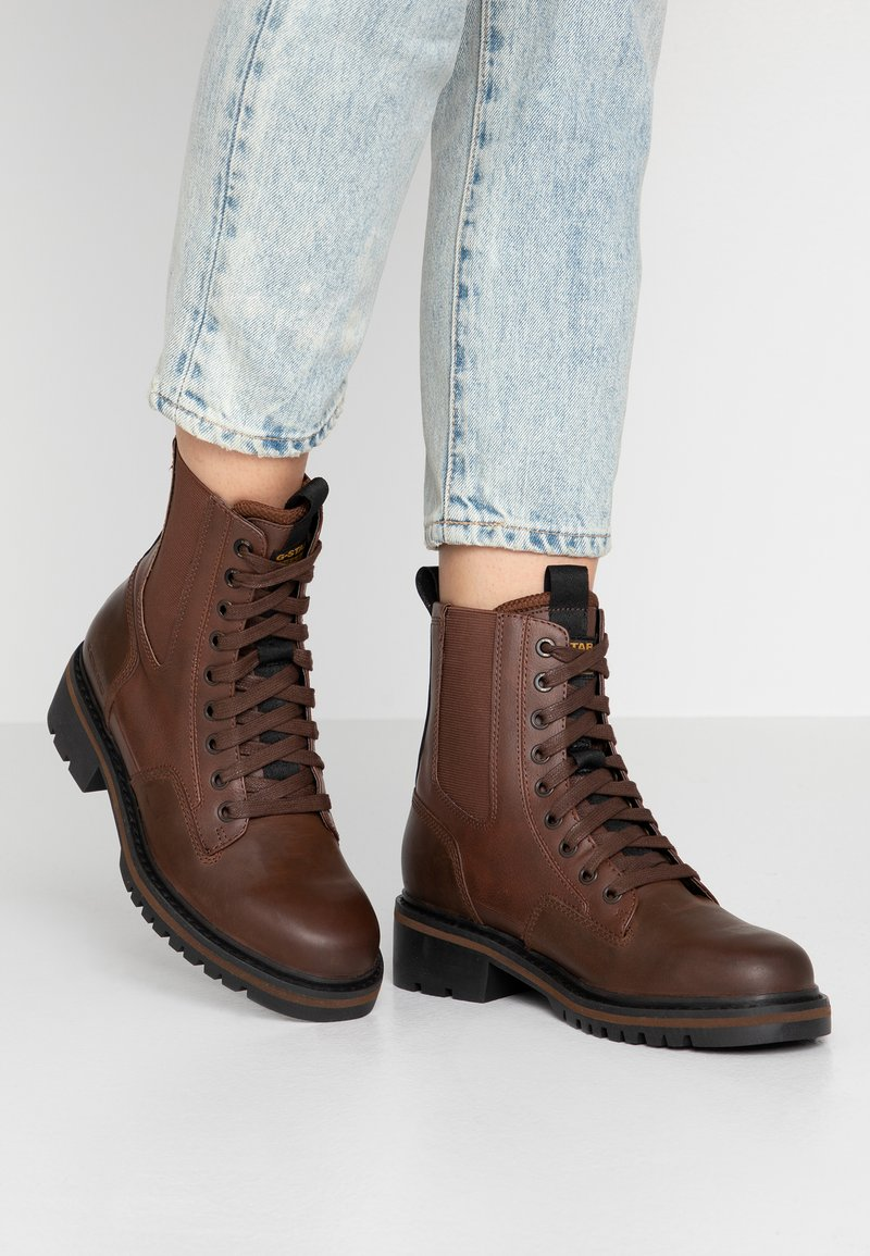 G-Star - CORE BOOT II - Lace-up ankle boots - dark brown