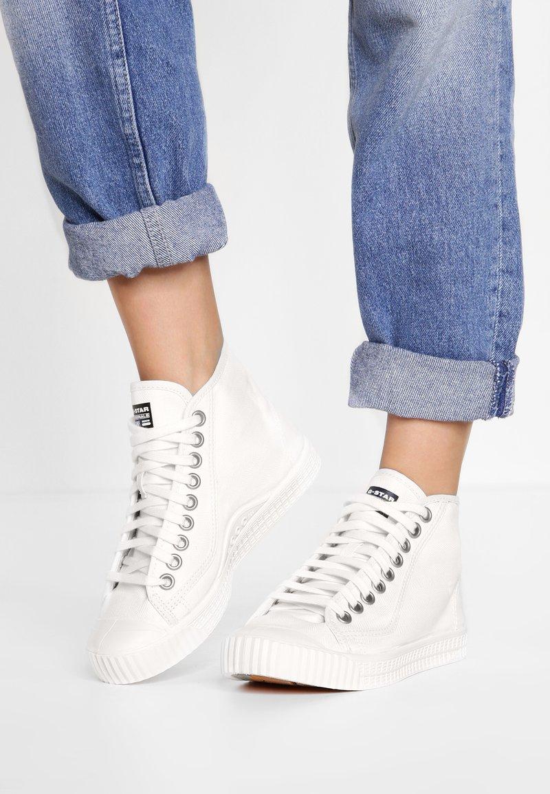 G-Star - ROVULC HB MID WMN - Sneaker high - white