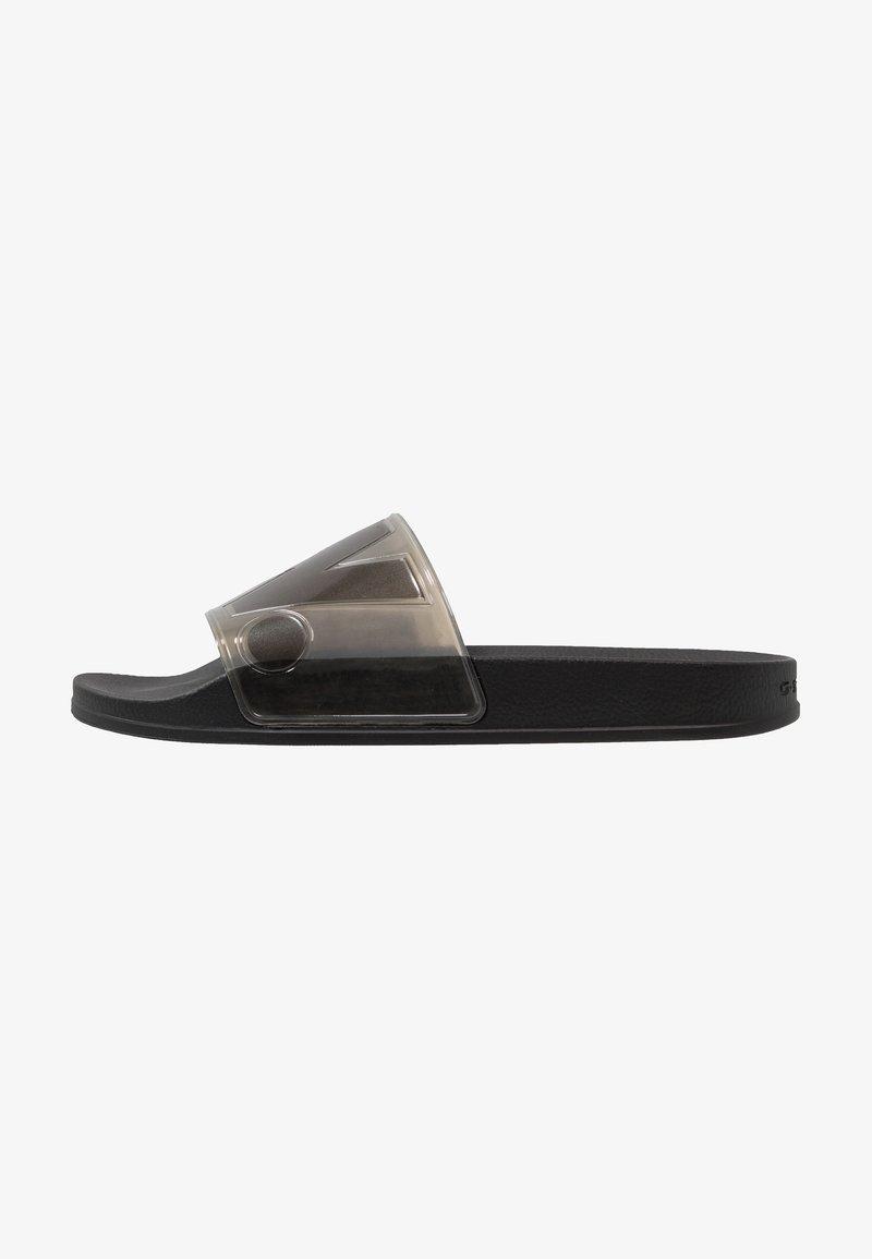 G-Star - CART SLIDE TRANSPARENT - Pantolette flach - black