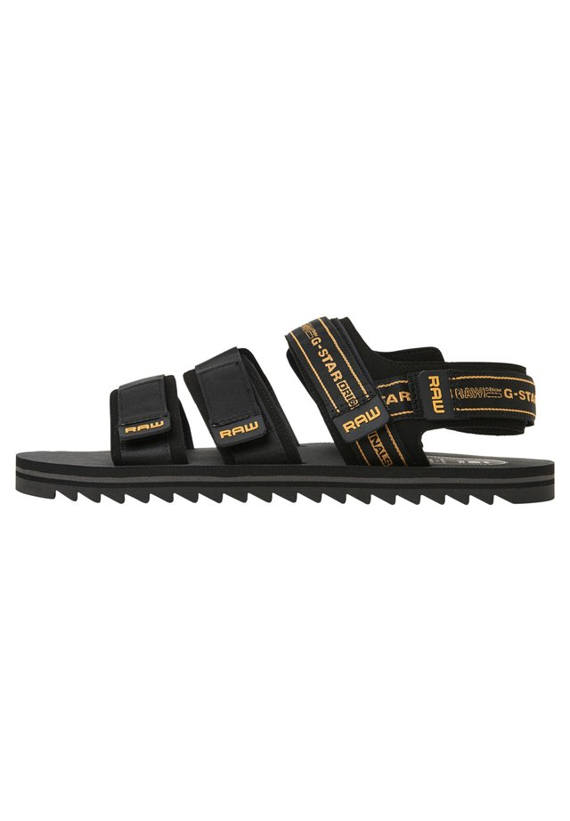 MIKE FISHERMAN - Sandalen - black/yellow