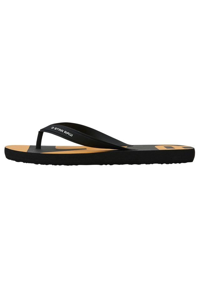 DEND - Teensandalen - black/yellow