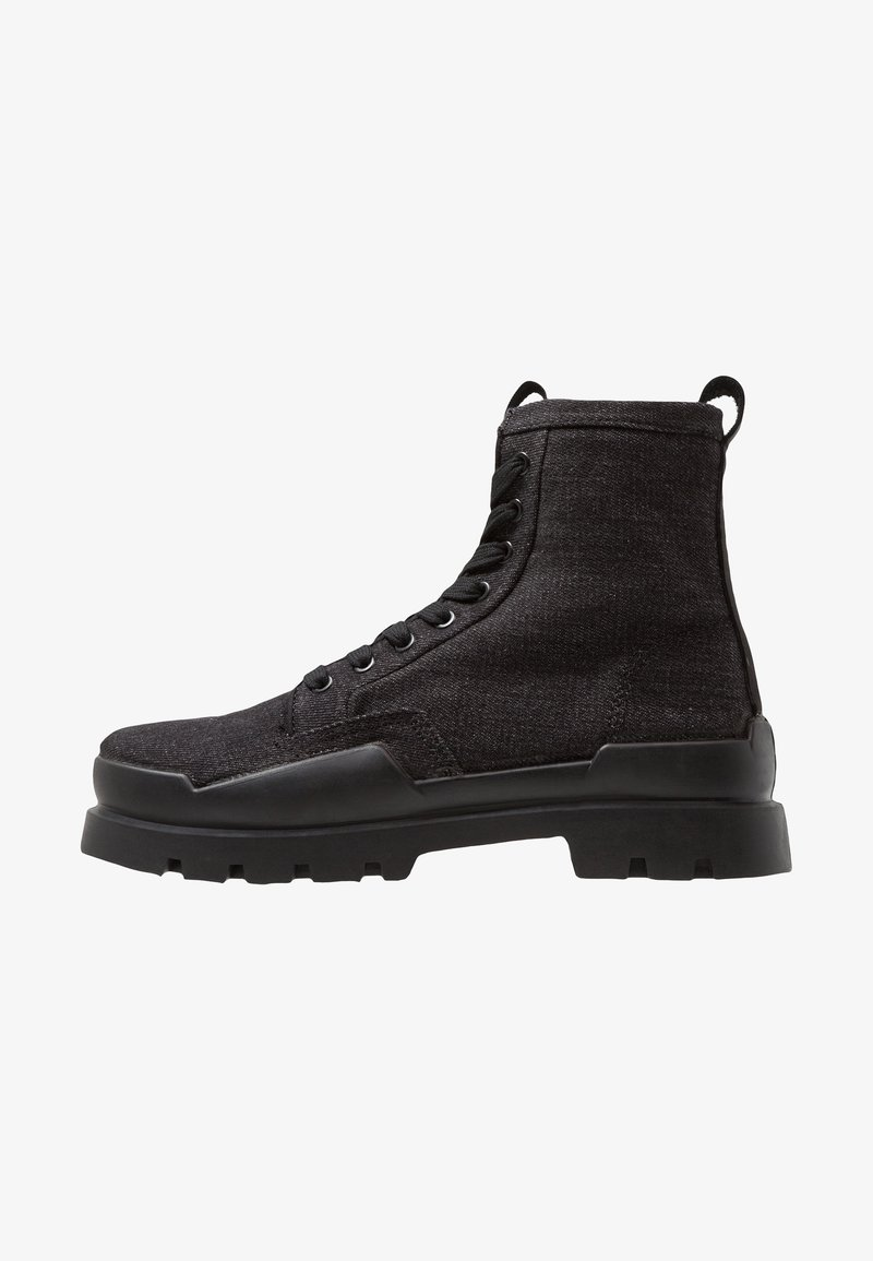 G-Star - RACKAM ROVULC BOOT DENIM - Lace-up ankle boots - black